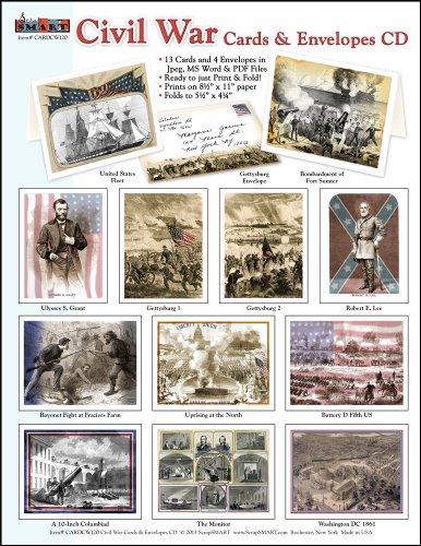 ScrapSMART - Civil War Cards & Envelopes Software Collection: Microsoft Word, Jpeg, and PDF files for Mac [Download] by ScrapSMART