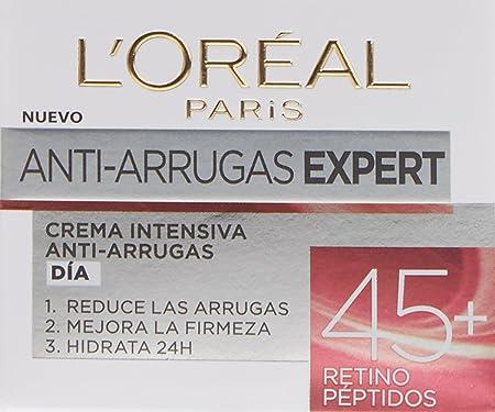 L'Oreal Paris Skin Expert - Crema de Día Intensiva Anti-Arrugas, Tratamiento con Retino Péptidos para Pieles de +45 - 50ml