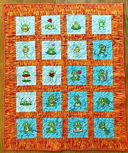 froggie quilt or wall hanging
