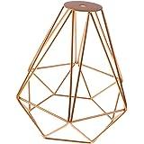 Jaula Lámpara de Techo Luz Bulbo Colgante de Loft Diamante de Imitación Metal Vendimia Decoración - Dorado