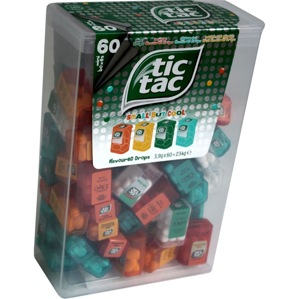 TIC TAC Box con 60 Mini Tic Tac