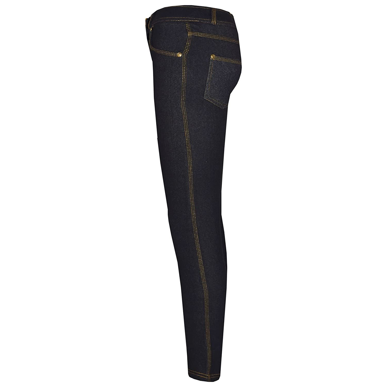 02cecf2d789 A2Z 4 Kids Girls Skinny Jeans Kids Stretchy Denim Jeggings Pants - Girls  Jeggings 061 Black 9 larger image