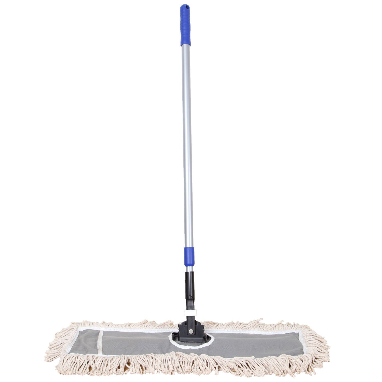 JINCLEAN™ 24'' Industrial Class Cotton Floor Mop | Dry to Attract dirt, dust Or Hardwood Floor Clean, Office, Garage Care, Telescopic Pole Height Max 59'' (24'' x 11'' Cleaning Path Industrial Mop)