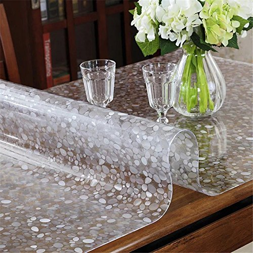 LovePads Multi Size 1.5mm Thicken PVC Table Protector Plastic Vinyl Tablecloth Cover Kitchen & Dining Room Wooden Furniture Protective Pads – 40 x 40 Inches (101.6 x 101.6cm)
