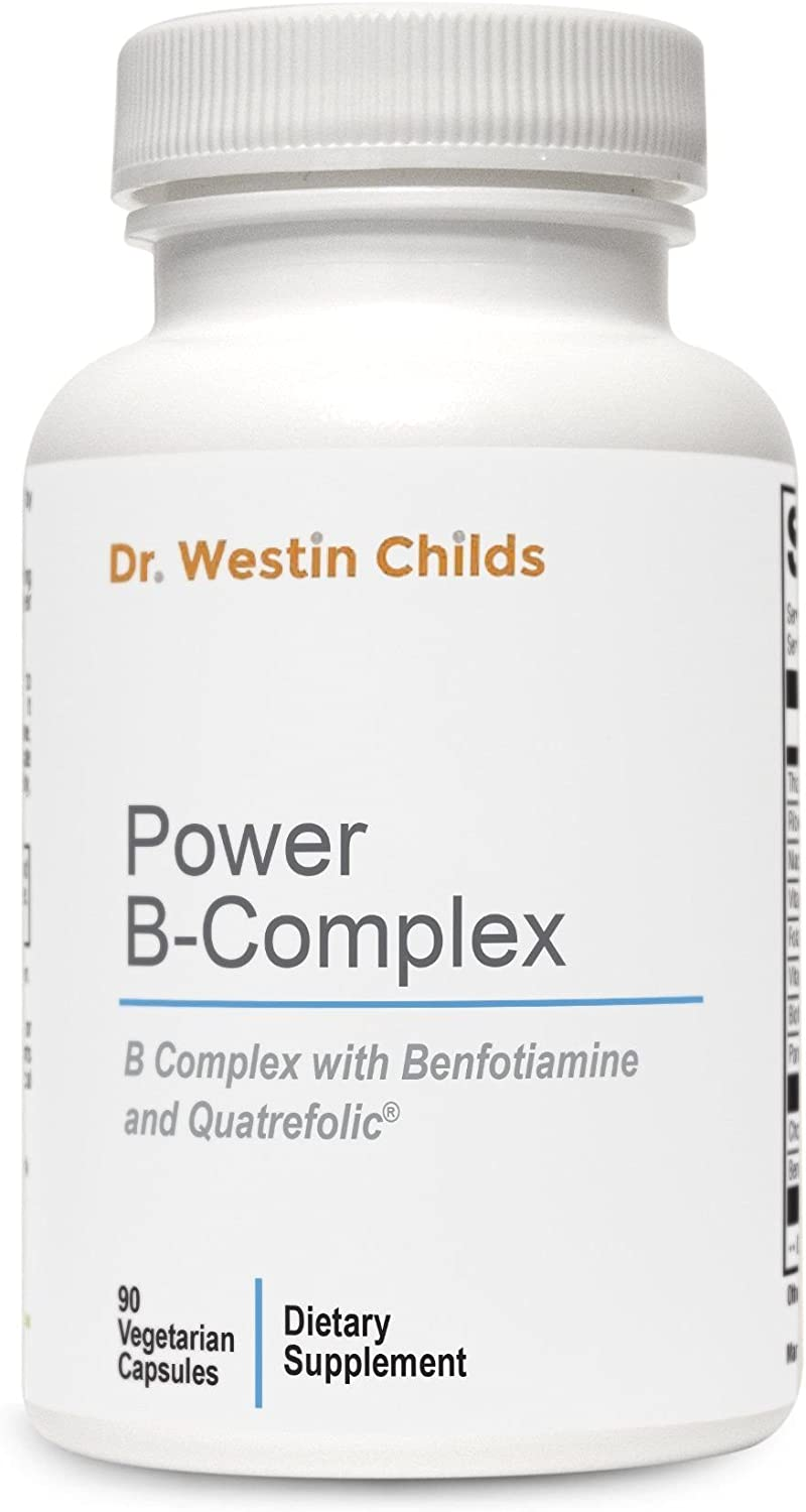 Dr. Westin Childs – Power B-Complex – Highly Absorbed, Pre-Methylated B Spectrum Vitamins Benfotiamine Designed to Help Support Energy, Adrenal Function The Stress Response – 45 Day Supply