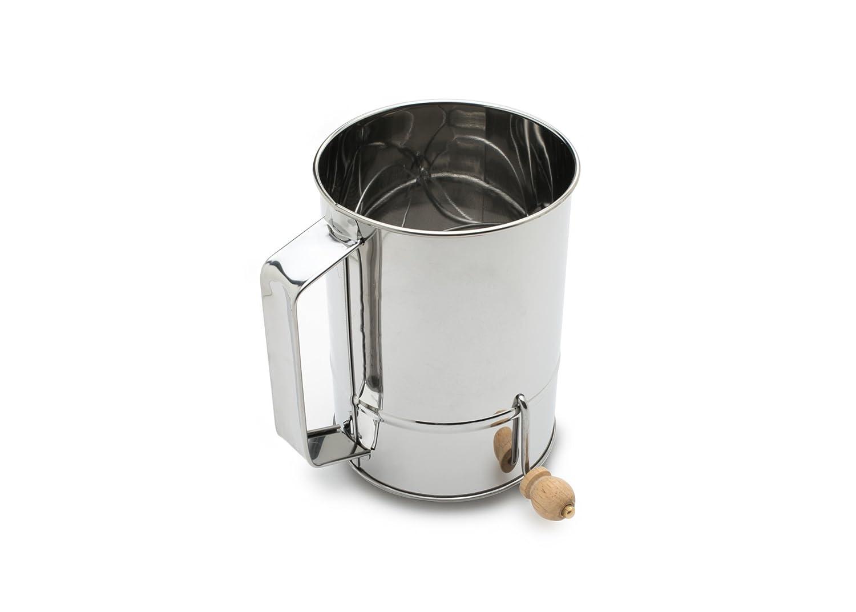 Fox Run 4639 Flour Sifter, Stainless Steel, 4-Cup 4639COM