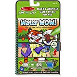 Melissa & Doug Wacky Animals: ON The GO Water-Reveal Activity Flip Pad + 1 Scratch Art Mini-Pad Bundle (#09464)