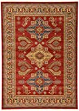 Beautiful Traditional Serapi Cllection Design, Red 7' x 10' FT Area Rug - Home Décor Foor Carpet Living Dinning Room and Bedroom Rugs, Warm Up Your Home Décor