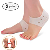 Plantar Fasciitis Heel Cushion Foot Sleeve(2 Pairs) - Breathable Protective Silicone Heel Protector to Instantly Relieve Pain and Pressure -Protect Bone & Heel Spurs
