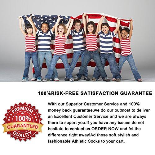 Flag Socks, Ristake Stars & Stripes American Flag Athletic Crew Patriotic Mismatch Socks