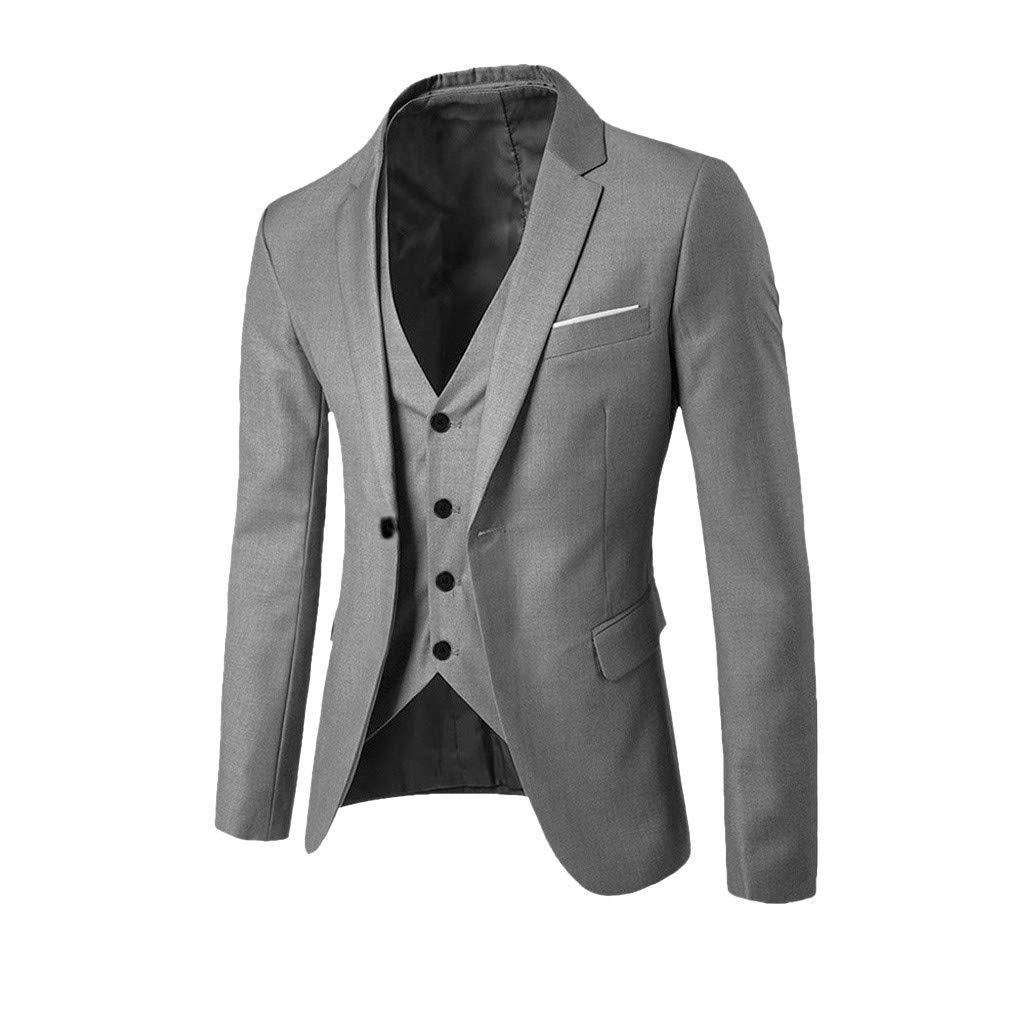 Coversolate Herrenanzug Slim Fit 3-teiliger Anzug f/ür M/änner Westen Anzugjacken Anzughose Anz/üge f/ür Business Hochzeit Party
