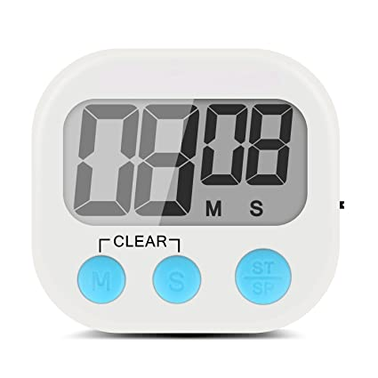 EC Technology Reloj Temporizador de Cocina Digital cn Pantalla LCD y Sistema de Alarma, Imán