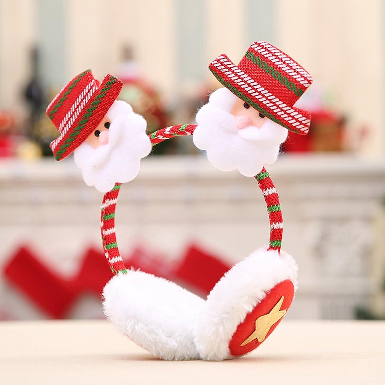 Sharplace Paraorecchie Peluche Per Inverno Comodo Caldo Babbo Natale Renna  Pupazzo Di Neve Regalo Festa Bambini - 1, 10cm: Amazon.it: Abbigliamento
