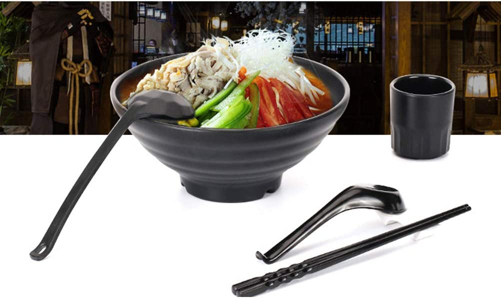 BESTONZON Soup Spoons,6pcs Japanese Style Melamine Spoons Creative Rice Spoons Chinese Asian Soup Spoons With Long Handle Bright Surface//Hook Style