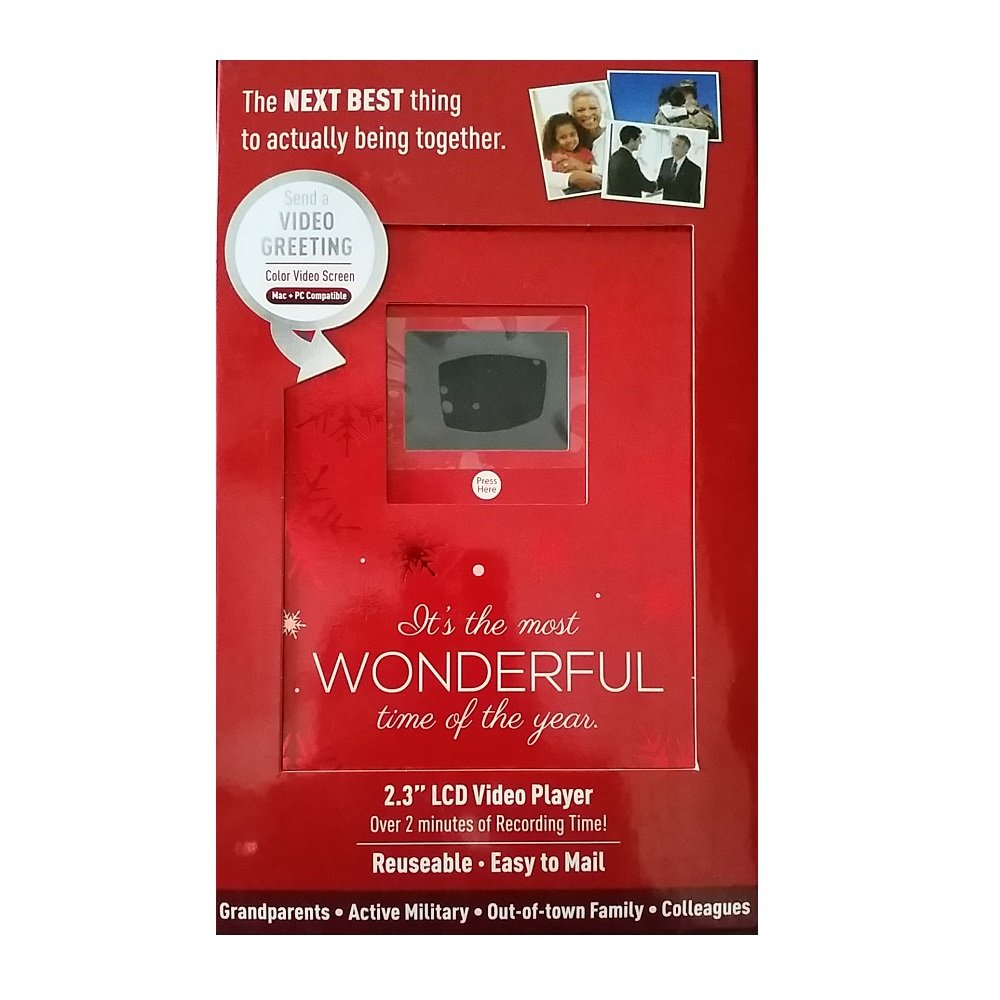 Amazon Christmas Holiday Video Greeting Card 23 Lcd Video