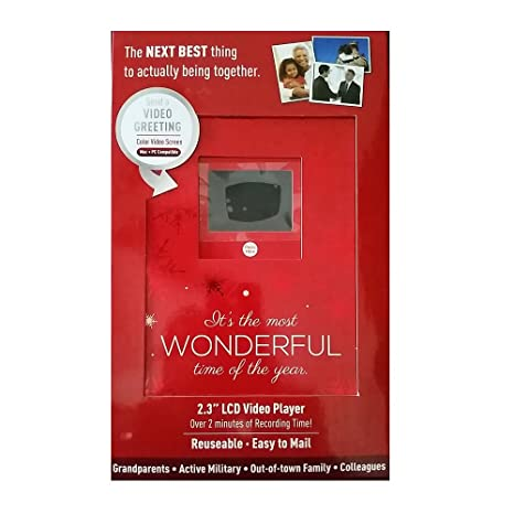 Amazon christmas holiday video greeting card 23 lcd video christmas holiday video greeting card 23quot lcd video player 2 minutes of recording m4hsunfo