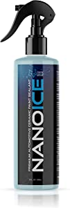 ComicDetail NanoICE Car Wax Hydrophobic Spray – Ceramic Coating Wax Spray – Top Coat Car Polish and Shine Spray – Improved Paint Sealant Protection – Masks Scratches and Hazing - 8 fl. Oz.
