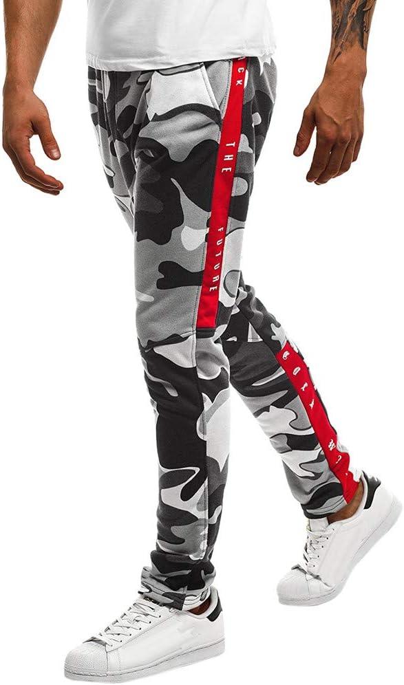 Men Camouflage Pocket Overalls Casual Pants Fit Zipper Sport Work Trouser Pant L