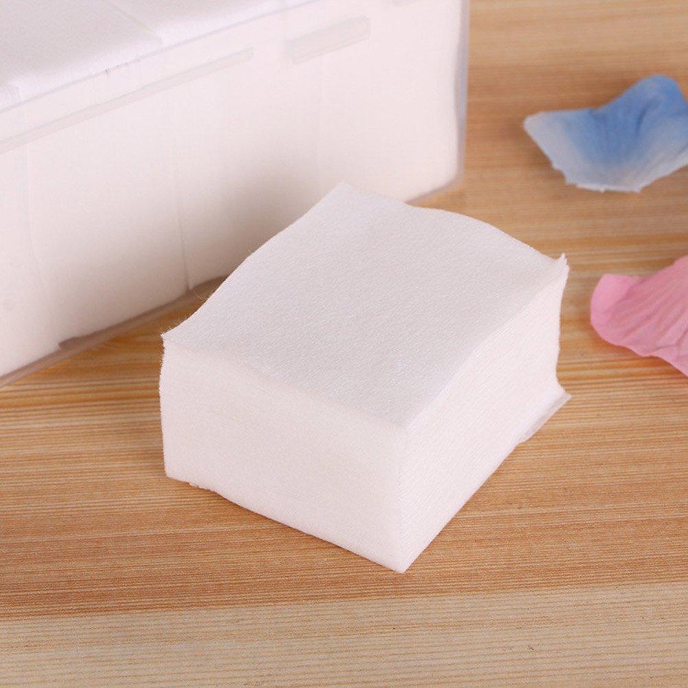 frcolor 1000pcs cotone cuscinetti assorbente Delgado soplos Plaza di cotone per rimuovere trucco e unghie polis