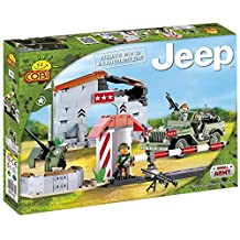 Cobi 24310 COBI Blocks Small Army - Jeep Willys MB with Headquaters Building Kit