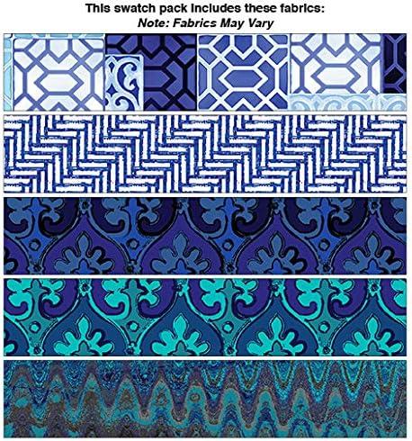 Benartex Palermo Blue 5 pc 5pc Fat Quarter Bundle