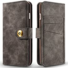 iPhone 7 Wallet Case,Protective iPhone7 PU Leather Case Premium Folio Detachable Magnetic Hard Case Cover with Card Slots for Apple iPhone7 – VENAS