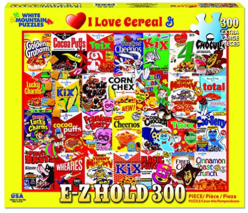White Mountain Puzzles I Love Cereal - 300 Piece Jigsaw Puzzle
