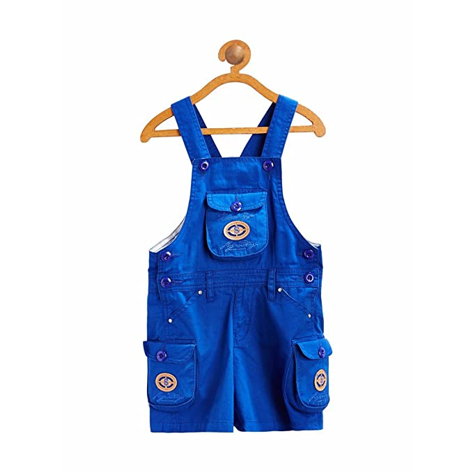 2b4b1a8aab2 FirstClap Cotton Knee Length Dungaree for Boys   Girls