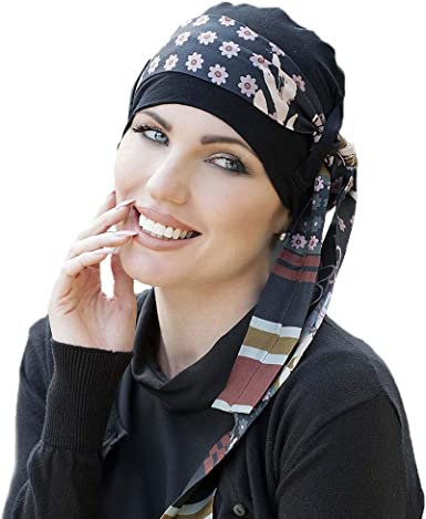 Masumi Headwear Pañuelo oncológico mujer Yanna Black (gorro + ...
