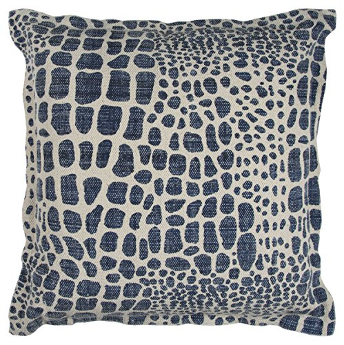 Rizzy Home PILT12236NVNV2222 Animal Print Decorative Pillow, Navy