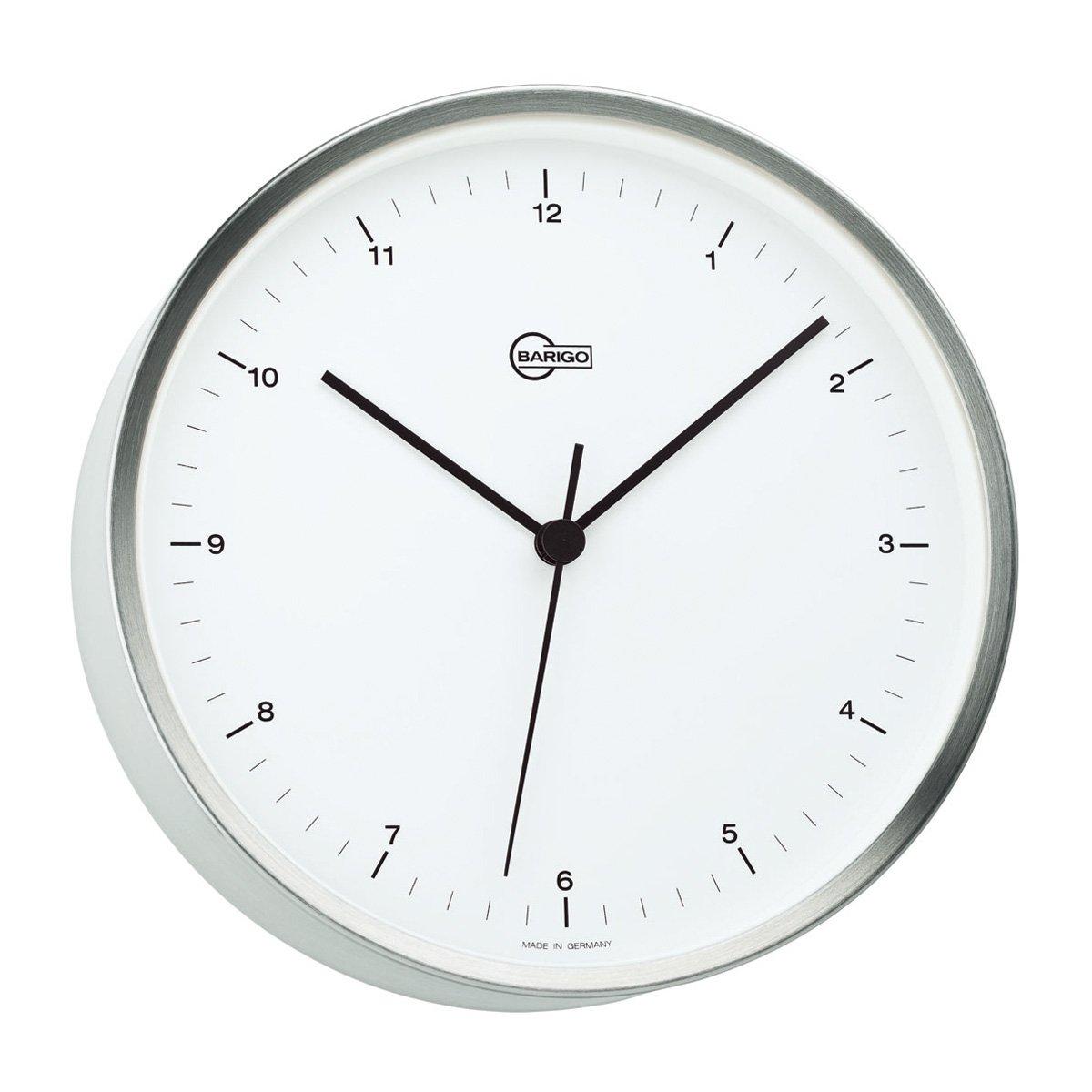 Barigo Ships Clock brushed stainless steel