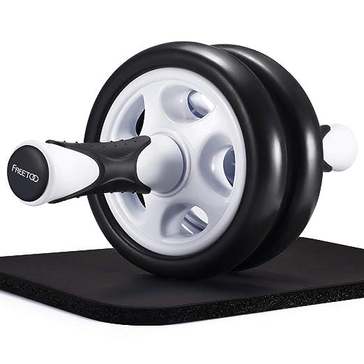 FREETOO AB Roller abdominal roller rueda abdominal con colchoneta para principiantes y expertos para aeróbic ejercicio entrenamiento en casa: Amazon.es: ...