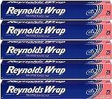 Reynolds Wrap Standard Aluminum Foil, 75 Square Feet - 5 Pack