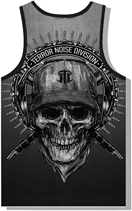 42dd48fb8d5b2 vermers Clearance Deals Fashion Skull Tank Top for Men - Summer Casual 3D  Printed Muscle Sleeveless. Back. Double-tap to zoom