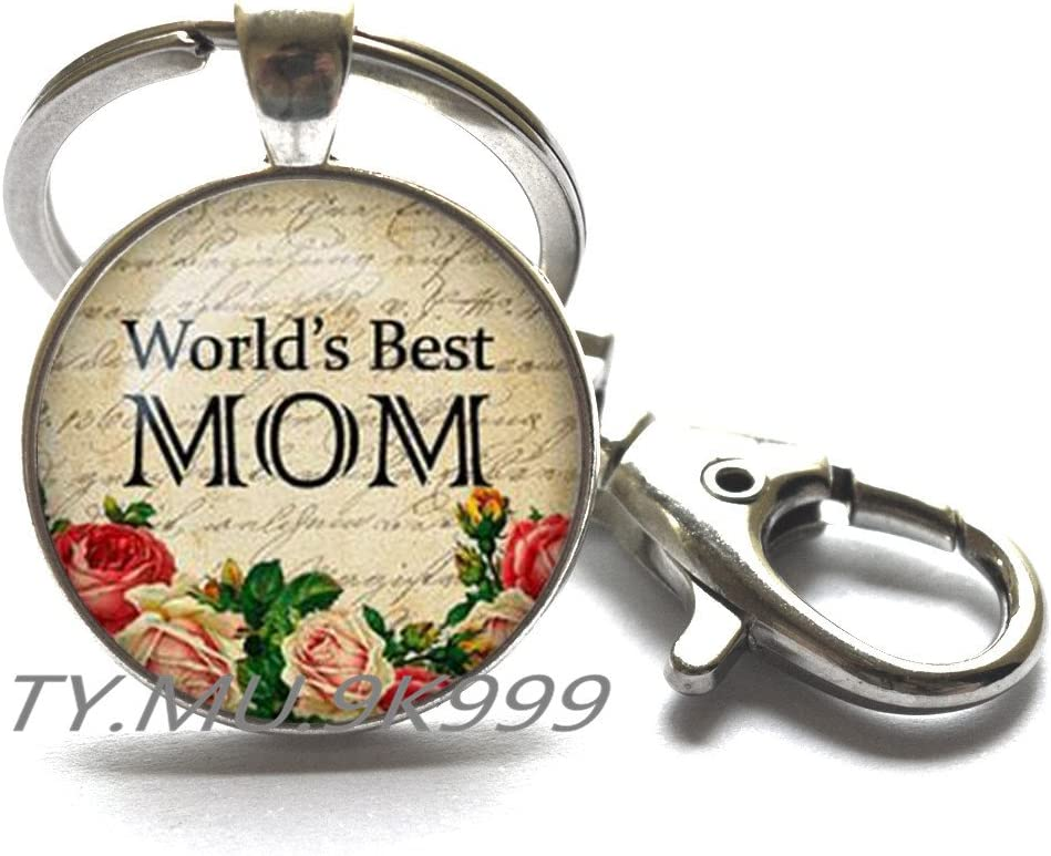 Yao0dianxku Worlds Best Mom Locket Necklace Mothers Day jewelry gift for Mom Mothers Day gift Mothers Day present present for mom.Y048