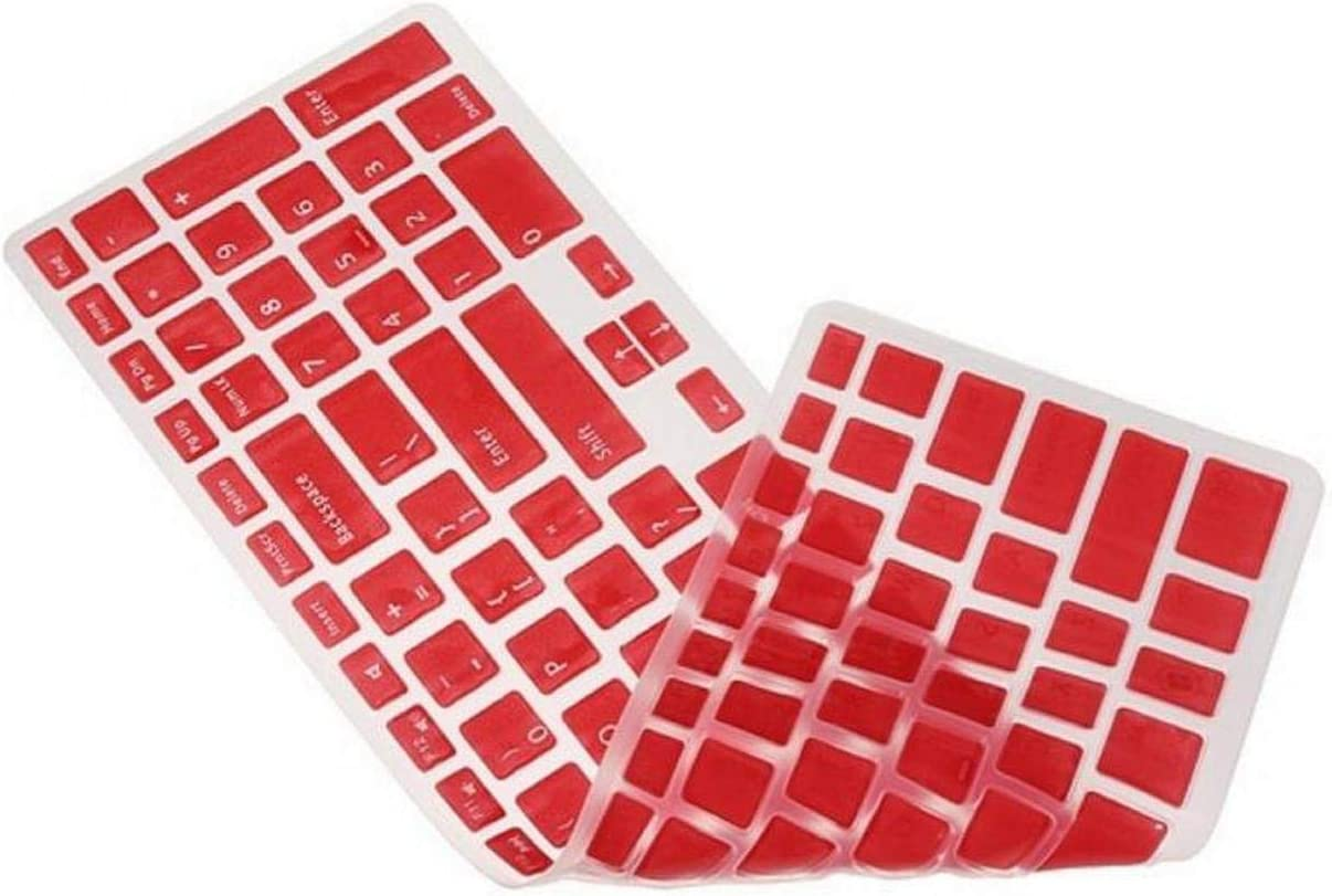New Colorful US Keyboard Skin Cover Protector for 15.6 for Dell 15C 15CR 15MD 5CD 15M-Red
