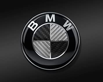 Black two teeth Emblem for capo 82mm emblem Carbon fiber incorporated