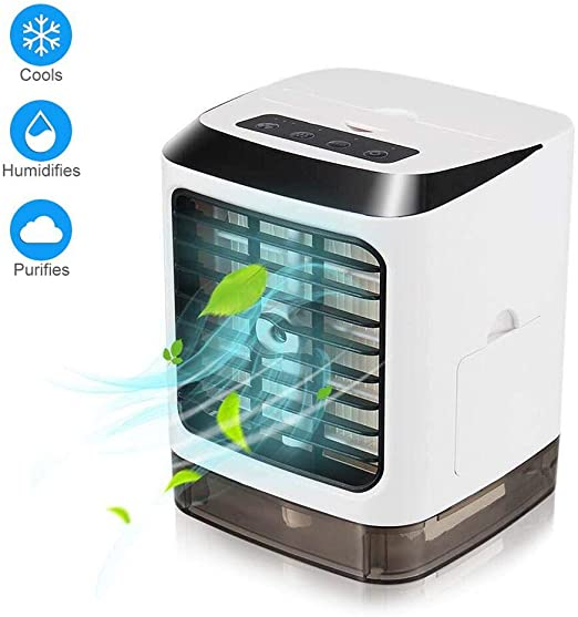 Mini Portable Fan Air Conditioner Personal Desk Cooler USB Humidifier Cleaner