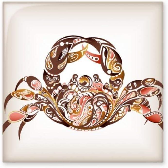 DIYthinker Crab-Muster-Entwurf Meeresorganismus Glossy-Keramik-Fliese Badezimmer K/üchen-Wand-Stein Dekoration Fertigkeit-Geschenk