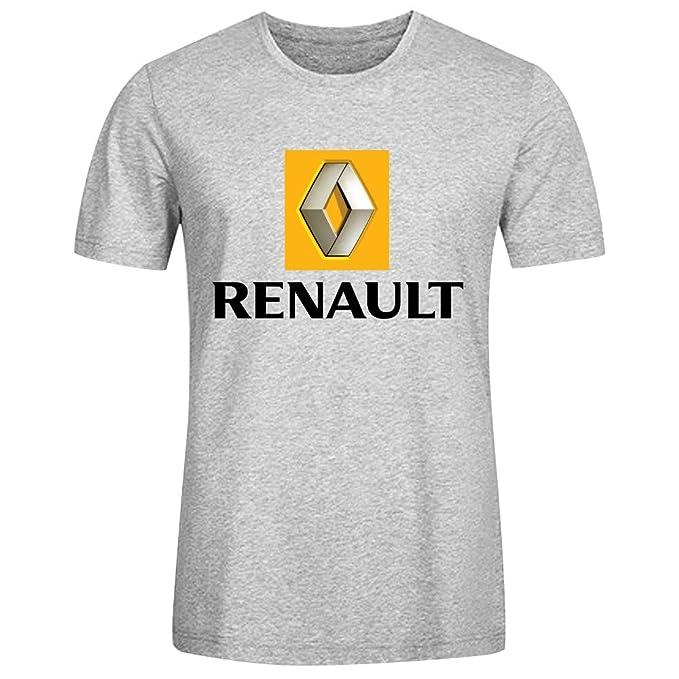 c98ee6cf11 Car Zoom T-Shirt SS Crew Running Tee - Camiseta   Camisa de Renault logo  Deportivas para Hombre Gris  Amazon.es  Ropa y accesorios