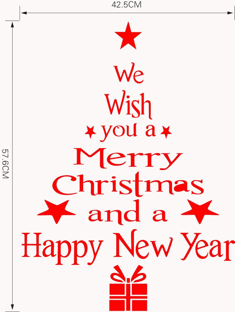 Amazon.com: Aiwall M-12R Merry Christmas and Happy New Year ...