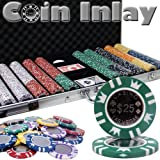 750 Ct Coin Inlay Poker Chip Set w/ Aluminum Case 15 Gram Chips by Brybelly