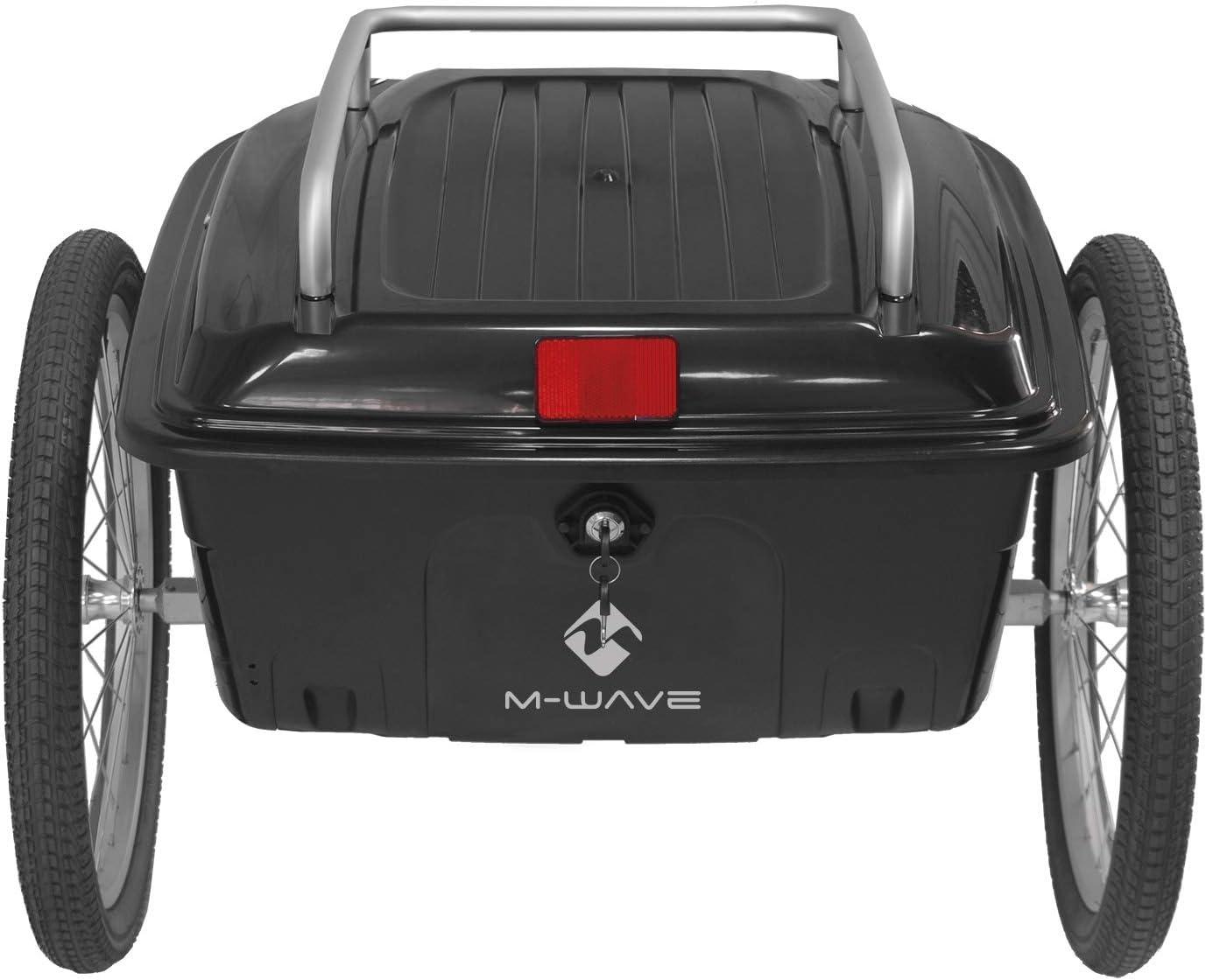 M-Wave CARRY ALL BOX Porte-Bagages /À Coque Rigide Mixte Adulte Noir