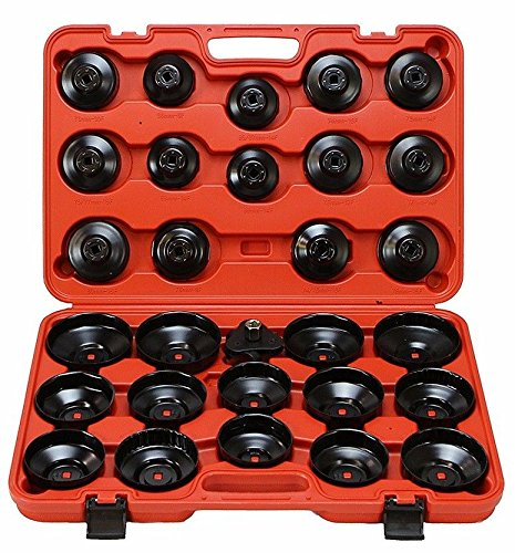 XtremepowerUS 30Pcs Auto Oil Filter Wrench Socket Cup Type Cap Tools BMW VW Audi Ford by XtremepowerUS (Image #2)