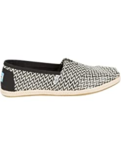02900dad9ba TOMS Women s Classic Rope Slip-On Black Woven Rope 7.5 B(M) US