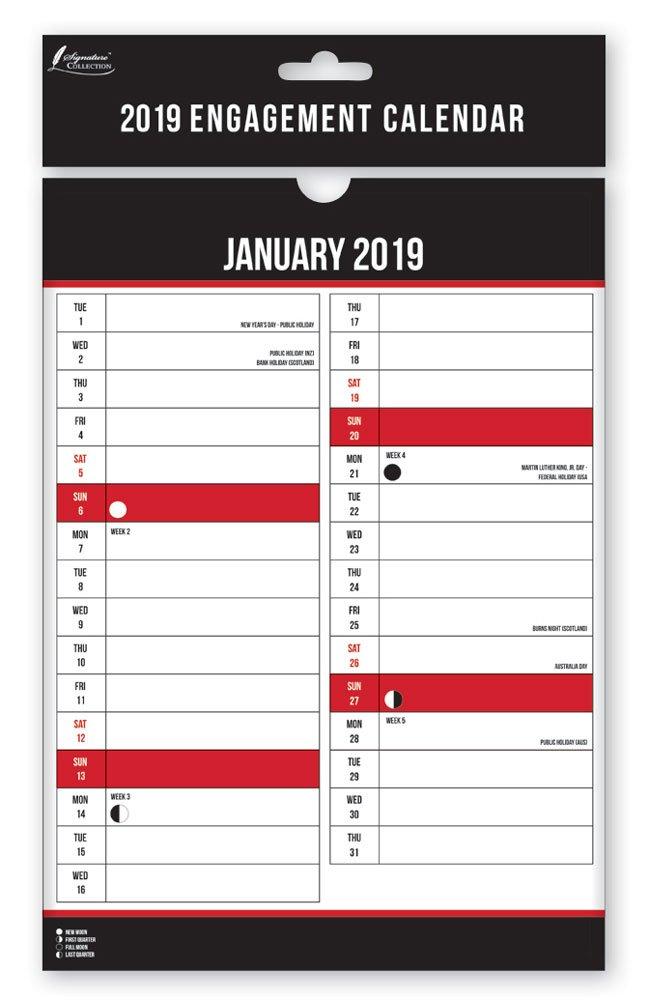 2019 fidanzamento calendario planner calendario da parete A4 commerciale ufficio mensile, Anker International