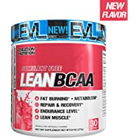 Evlution Nutrition LeanBCAA, BCAA's, CLA and L-Carnitine, Stimulant-Free, Recover and Burn Fat, Sugar and Gluten Free (Watermelon, 30 Servings)