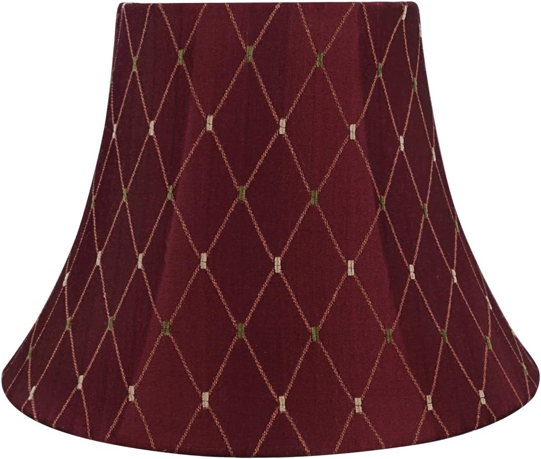 Aspen Creative 30228 Transitional Bell Shaped Construction Burgundy, 13 Wide 7 x 13 x 9 1 2 Spider LAMP Shade