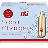 iSi North America CO2 Soda Siphon Charger for use with Classic Sodamaker and Soda Siphon, 10 Pack