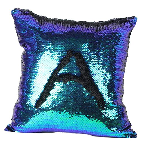 Hatop Double Color Glitter Sequins Throw Pillow Case Cafe Home Decor Cushion Covers (G)